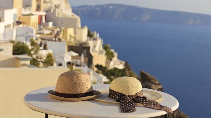 View from Mediterranean Island
